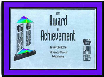 Award of Achievement from Iowa Motion Picture Awards