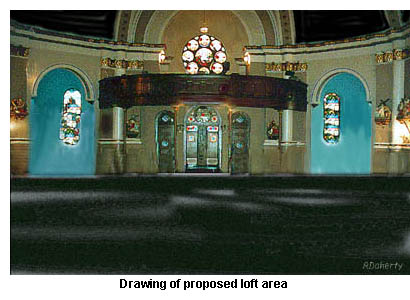 Drawing of proposed loft area